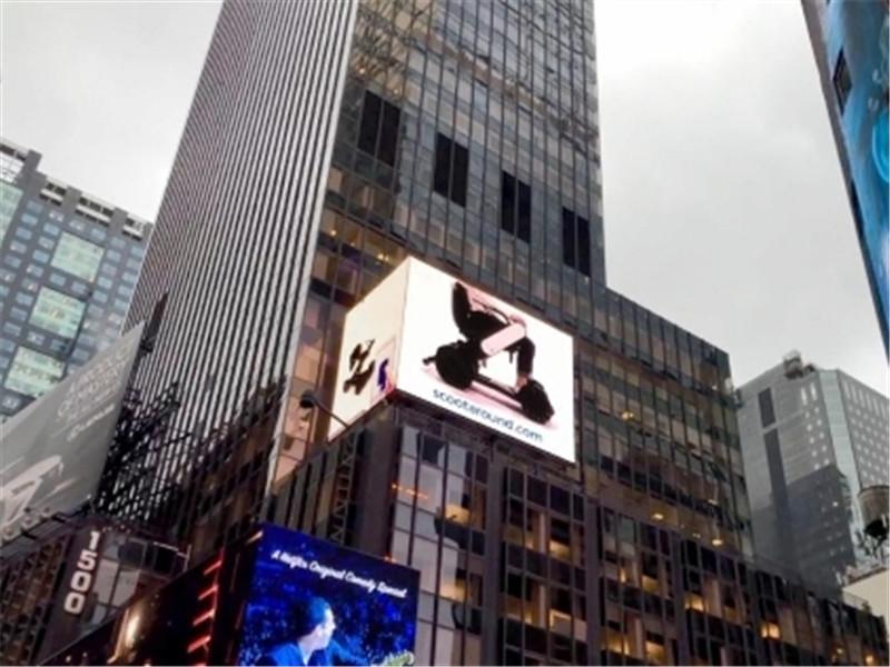 登上纽约时代广场的智能科技电动代步车