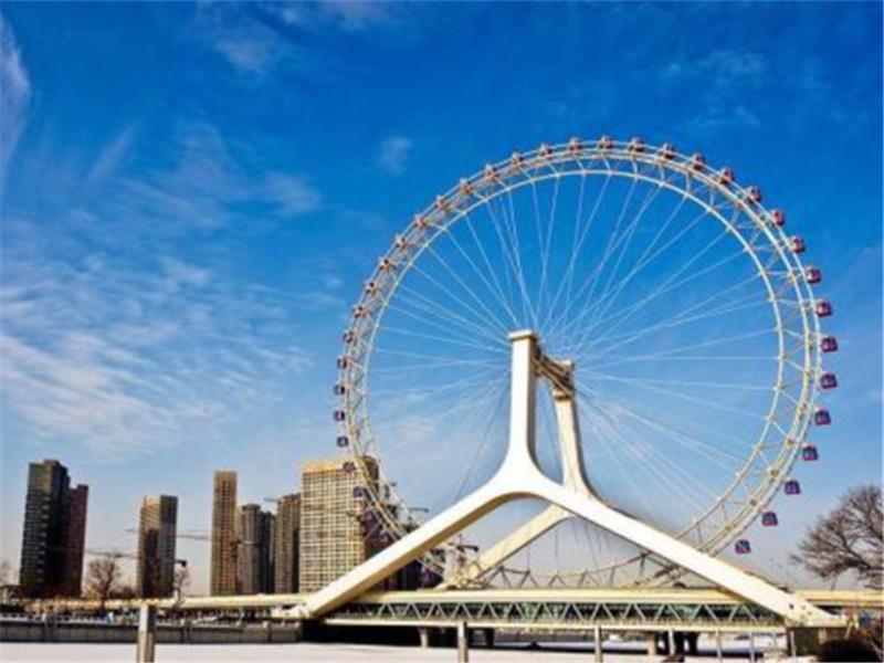 """""""天津之眼""""世界上唯一建在桥上的摩天轮,方圆40公里尽收眼底"""